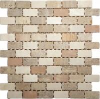 Mosaikfliese Toscana Mix beige 30,5 x 30,5 cm