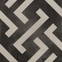 Bodenfliese Pamesa Arte Signac grau-schwarz 22,3 x 22,3 cm