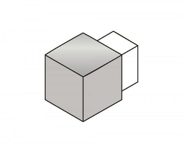 Eckstück Dural 11 mm Chrom silber LAC 1153-B