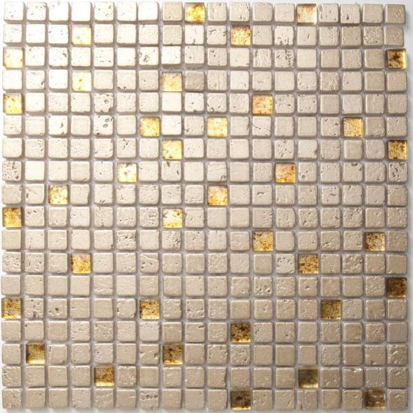 Mosaikfliese Supreme gold 30 x 30 cm