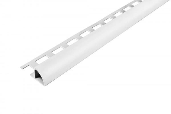 Rundprofil Dural 12,5 mm PVC weiß ROG 1201 250 cm
