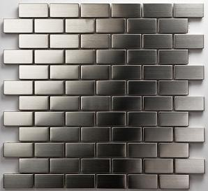 Mosaikfliese Metall silber 2348 30 x 30 cm
