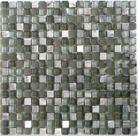 Mosaikfliese Collexion Hawaii grau Mix 30 x 30 cm