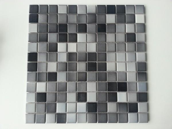 Mosaikfliese Elea grau 29,5 x 29,5 cm