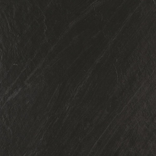 Bodenfliese Marazzi Mystone lavagna nero strukturiert 60 x 60 cm