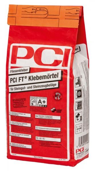 Fliesenkleber PCI Ft-Klebemoertel grau 5 kg