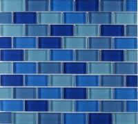 Mosaikfliese Mischung blau 30 x 30 cm