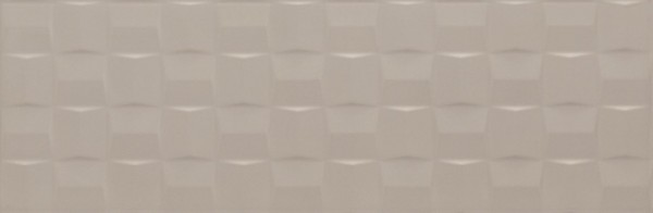 Wandfliese Marazzi Pottery silver cube 3D 25 x 76 cm