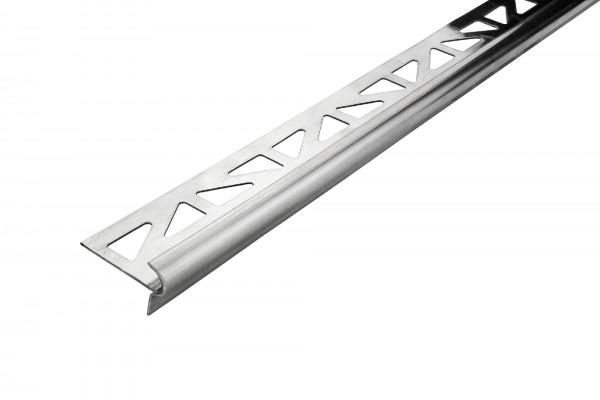Treppenkantenprofil Dural Rund Inox Edelstahl natur 9 mm FSTE 90 2 250 cm
