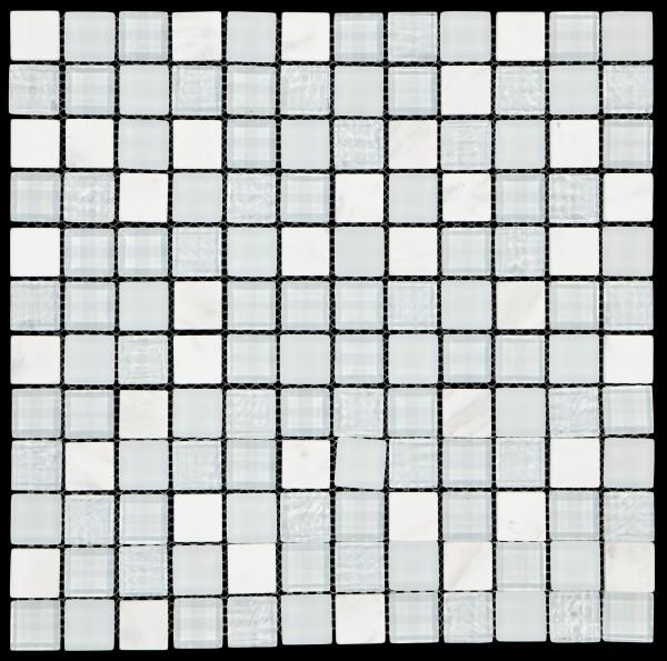Mosaikfliese Elevato weiß 30 x 30 cm