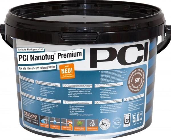 Fugenmörtel PCI Nanofug Premium zementgrau 5 kg