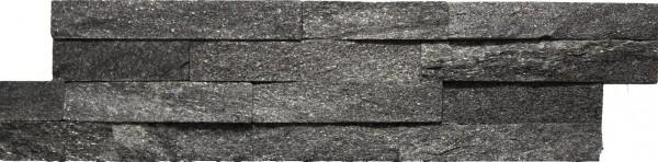 Steinverblender Brickstone schwarz 10 x 40 cm
