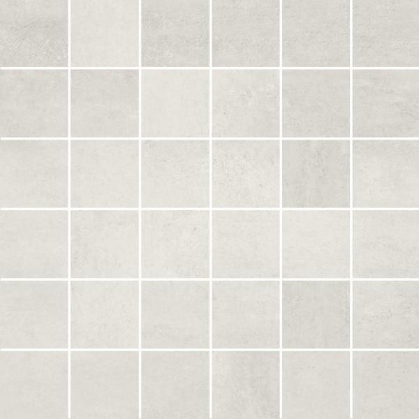 Mosaikfliese Meissen Grava weiß matt 29,8 x 29,8 cm