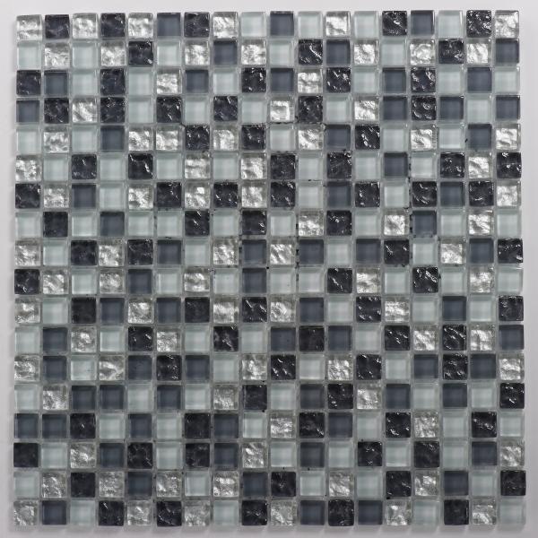 Mosaikfliese Vesuvio grau silber 30 x 30 cm