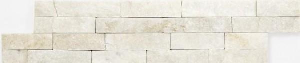 Steinverblender Brickstone Quarzit weiß 10 x 40 cm