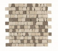 Mosaikfliese Marazzi Material Mix white/beige/greige 30 x 30 cm