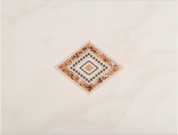 Dekorfliese Meissen Malta Raute beige 25 x 33 cm