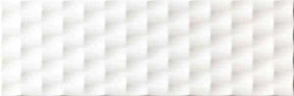 Wandfliese Ascot Lumen white pyramid lux 25 x 75 cm