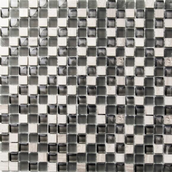 Mosaikfliese Solid white 30 x 30 cm