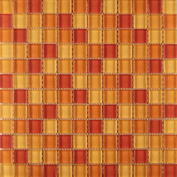 Mosaikfliese Mischung orange 30 x 30 cm