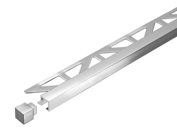 Quadratprofil Dural 11 mm Alu Hochglanz eloxiert DPSA1162 250 cm