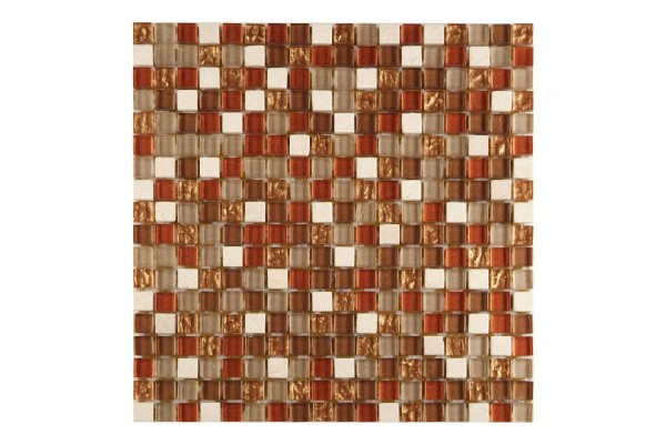 Mosaikfliese Collexion Butzi Mix Kupfer 30 x 30 cm
